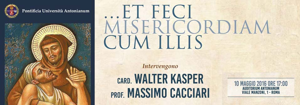 "A Public Event at the Antonianum ""… et feci misericordiam cum illis"""